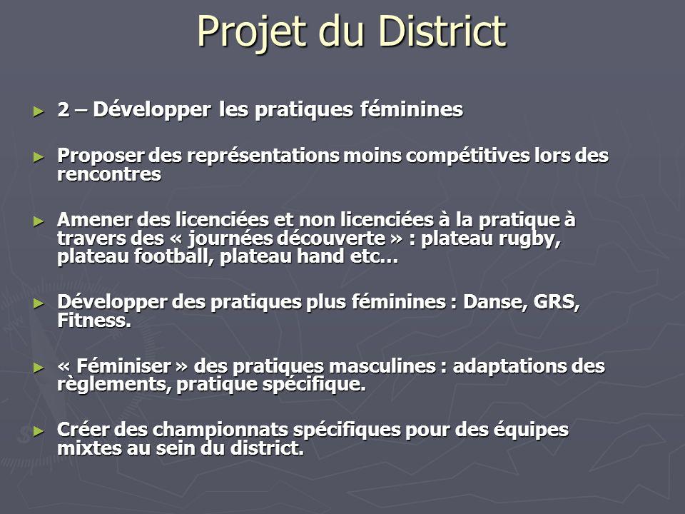 Projet du District 2 – Développer les pratiques féminines