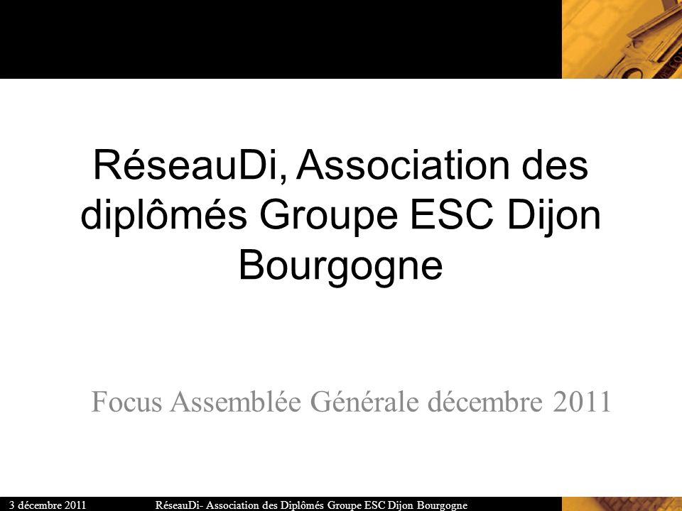 RéseauDi, Association des diplômés Groupe ESC Dijon Bourgogne