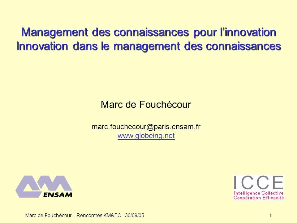 Management des connaissances pour l'innovation Innovation dans le management des connaissances
