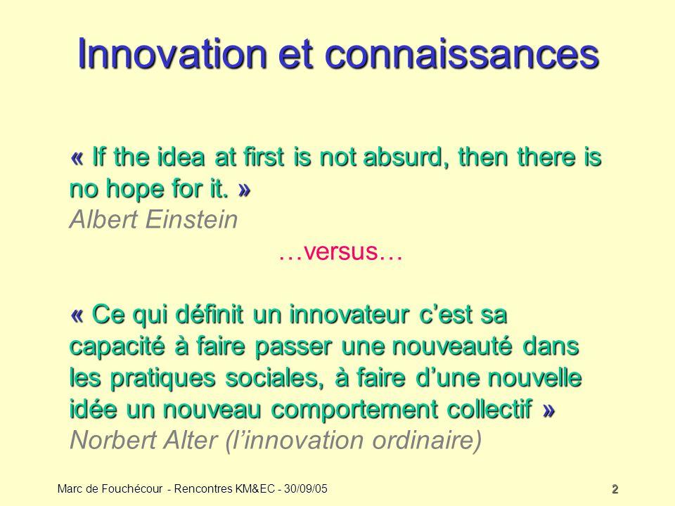 Innovation et connaissances