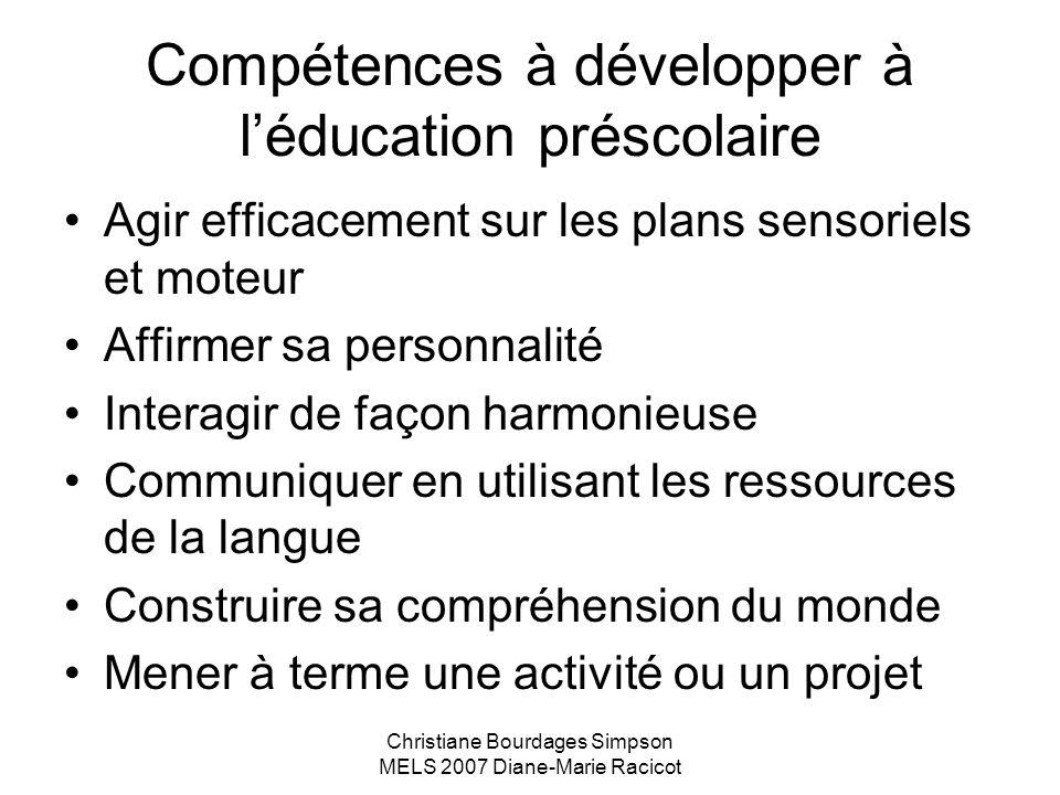 Compétences à développer à l'éducation préscolaire