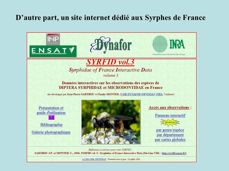D'autre part, un site internet dédié aux Syrphes de France