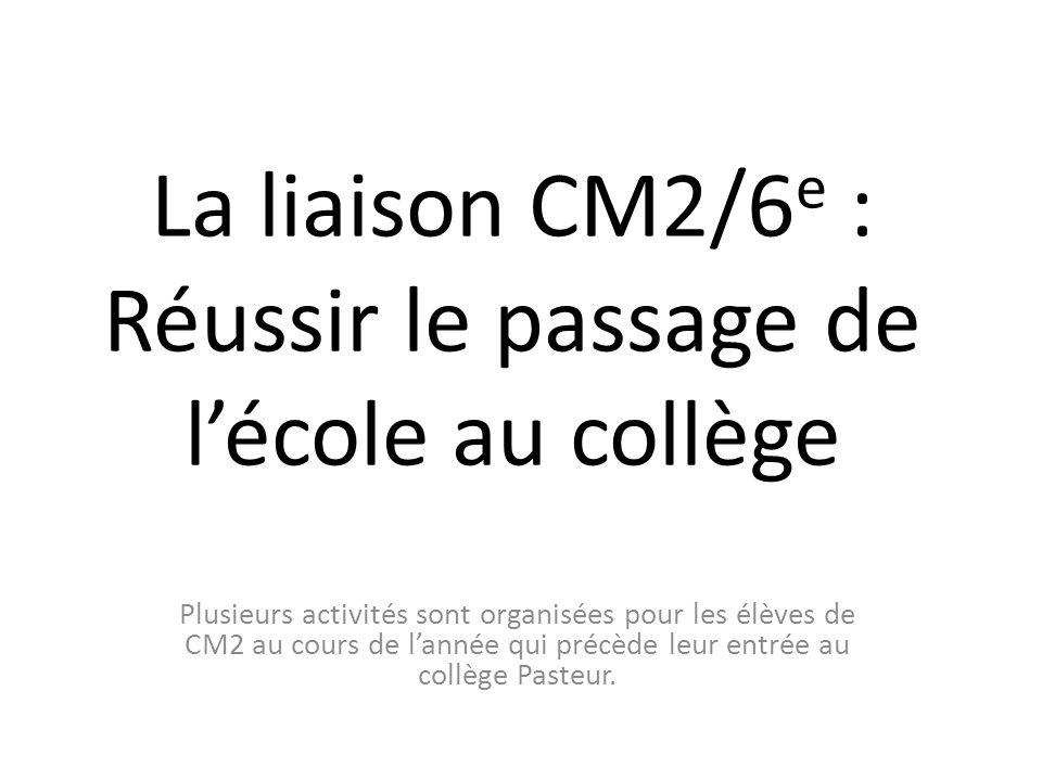 La liaison CM2/6e : Réussir le passage de l'école au collège