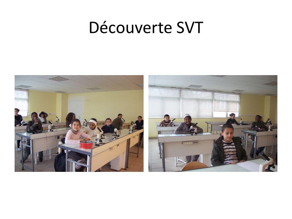 Découverte SVT