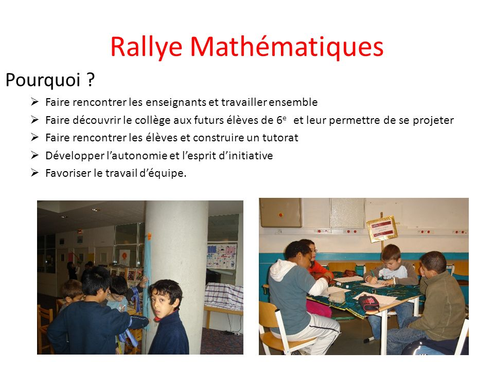 Rallye Mathématiques Pourquoi