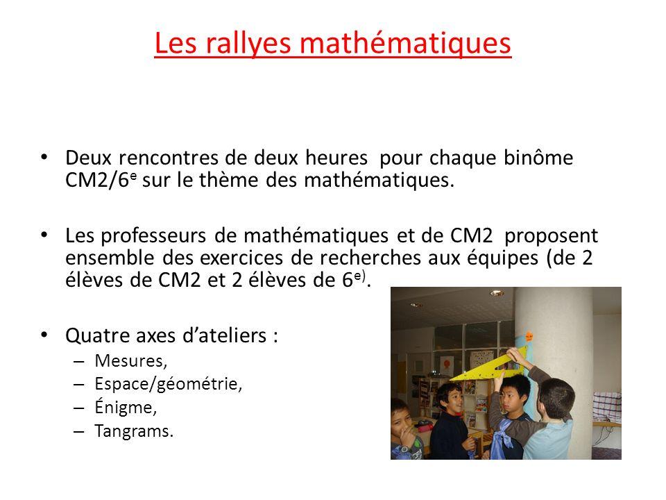 Les rallyes mathématiques