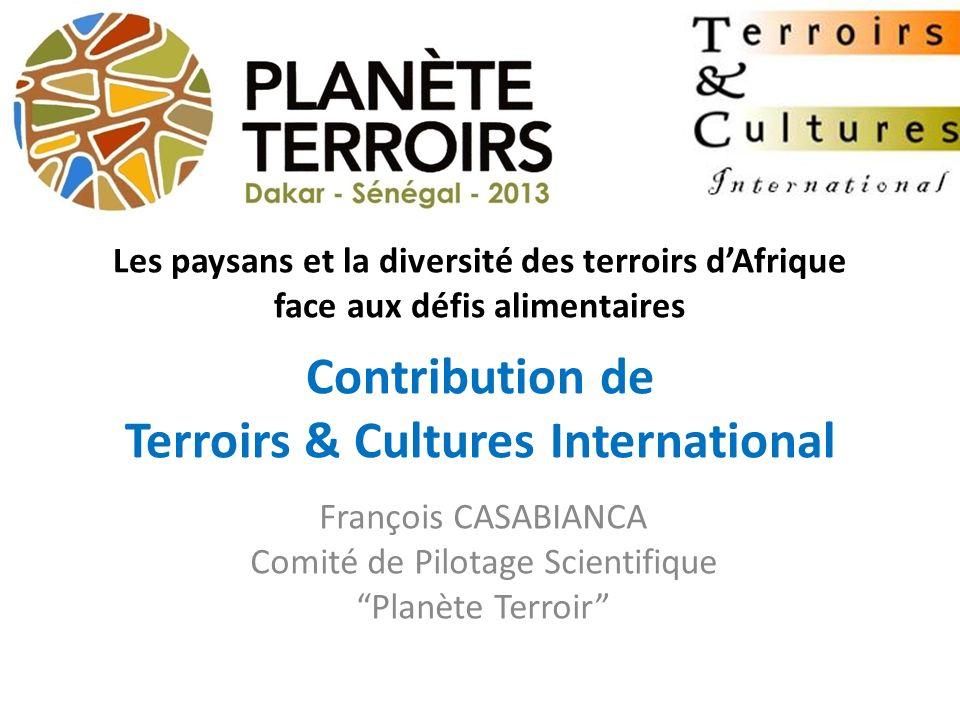 François CASABIANCA Comité de Pilotage Scientifique Planète Terroir