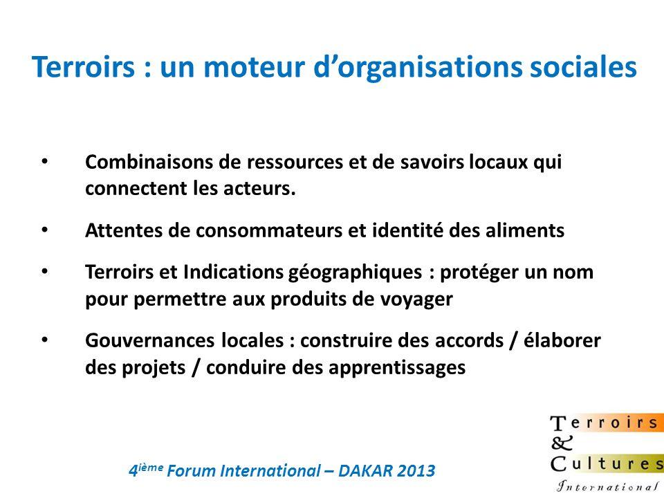 Terroirs : un moteur d'organisations sociales