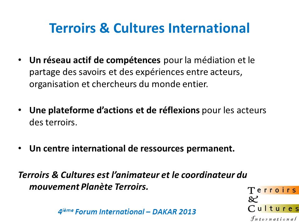 Terroirs & Cultures International