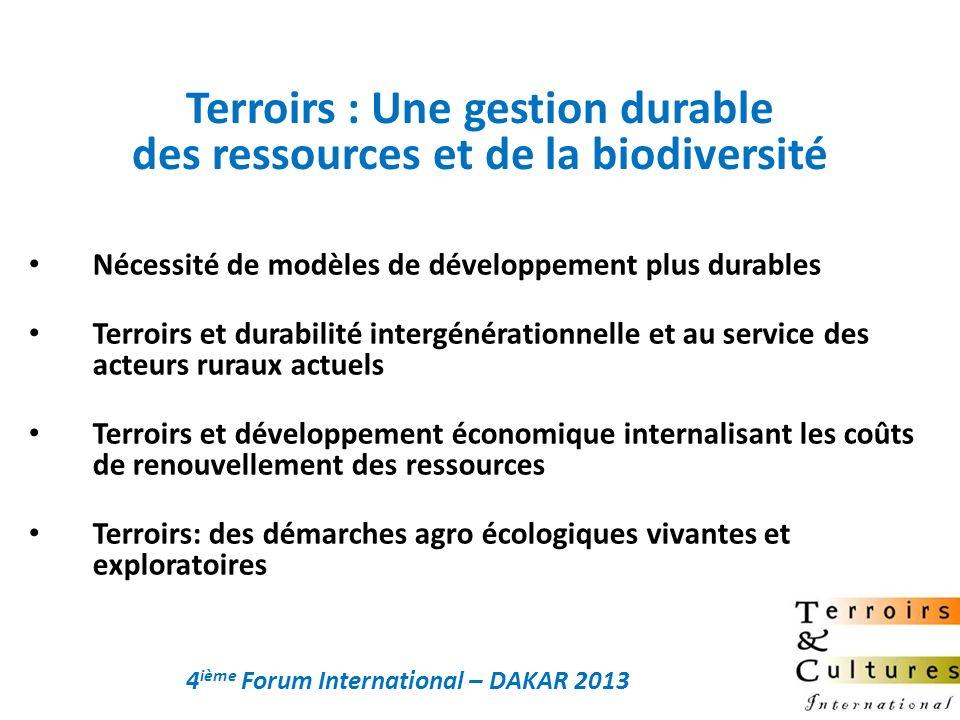 Terroirs : Une gestion durable des ressources et de la biodiversité