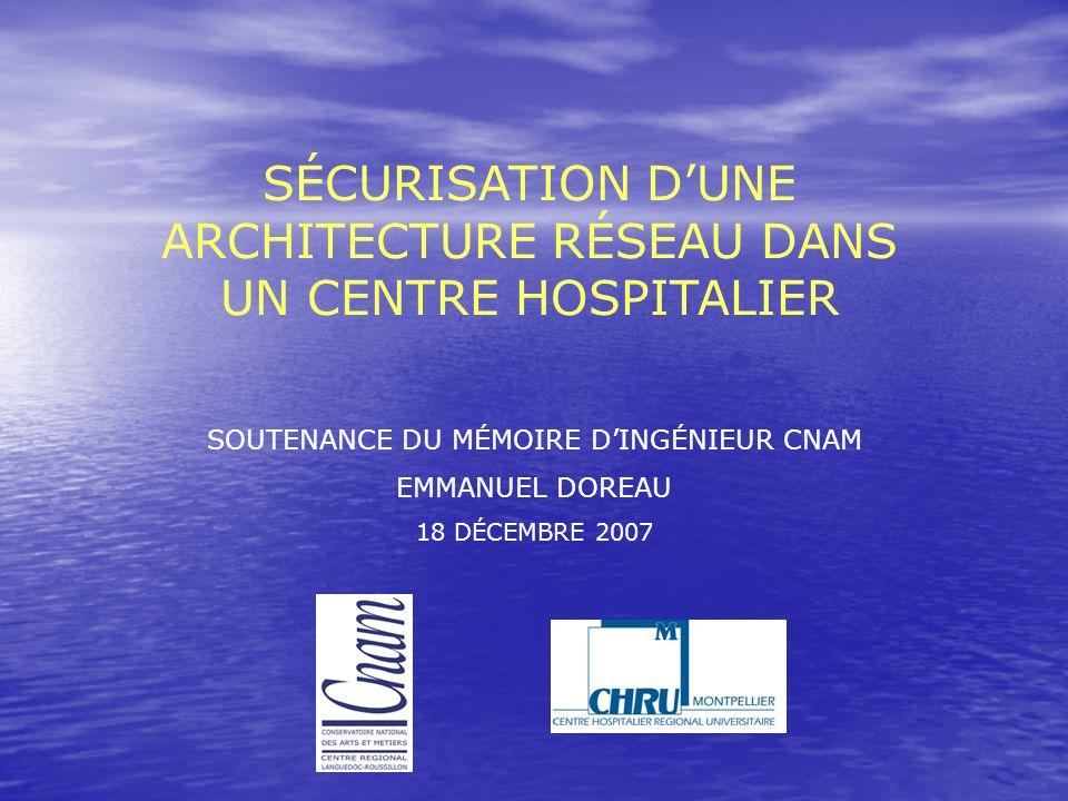 SÉCURISATION D'UNE ARCHITECTURE RÉSEAU DANS UN CENTRE HOSPITALIER