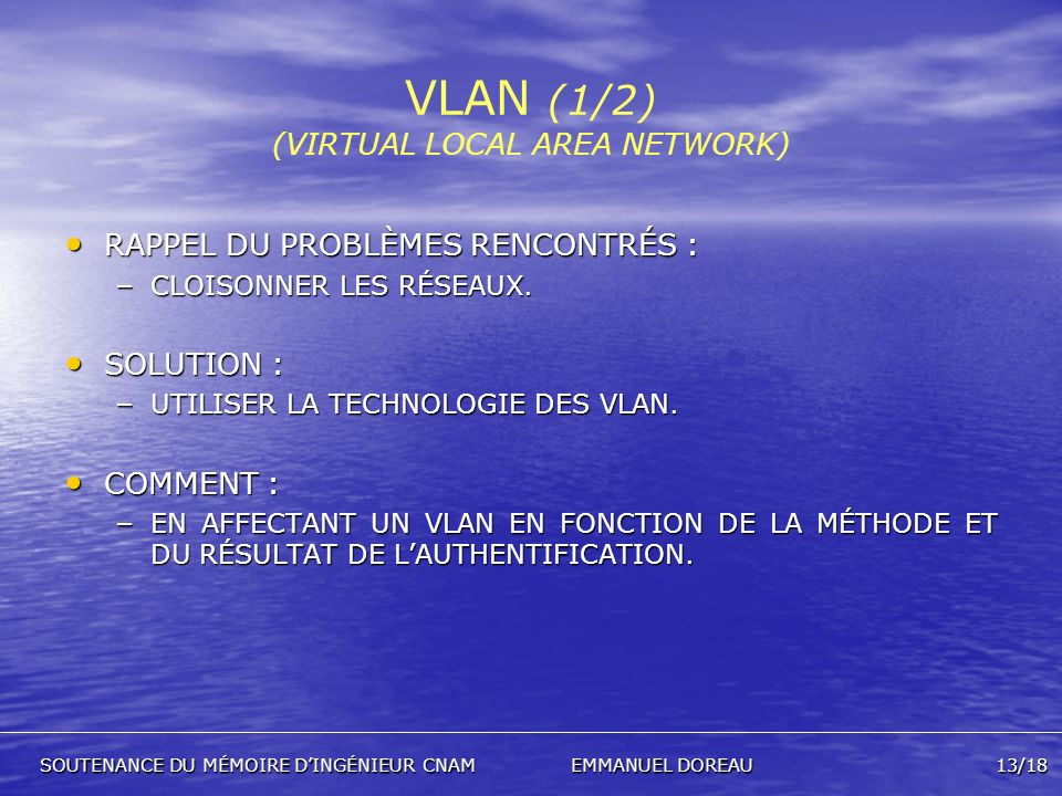 VLAN (1/2) (VIRTUAL LOCAL AREA NETWORK)