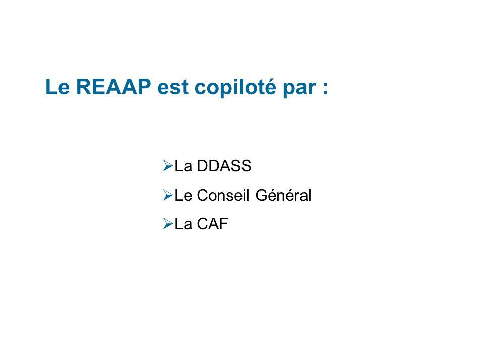 Le REAAP est copiloté par :