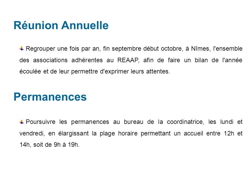 Réunion Annuelle Permanences