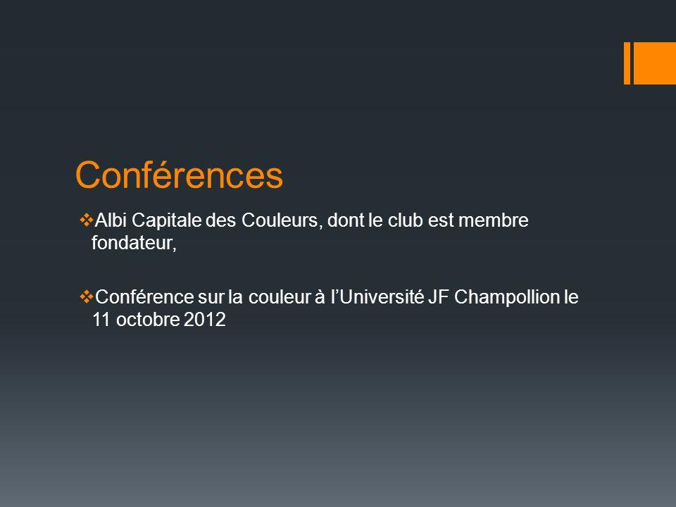 Conférences Albi Capitale des Couleurs, dont le club est membre fondateur,