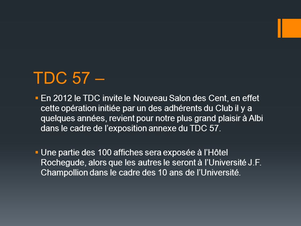 TDC 57 –