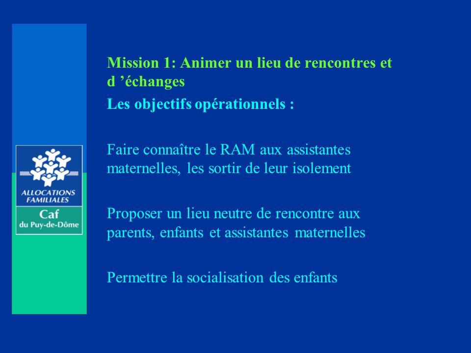 Mission 1: Animer un lieu de rencontres et d 'échanges