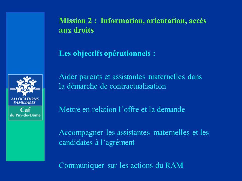 Mission 2 : Information, orientation, accès aux droits