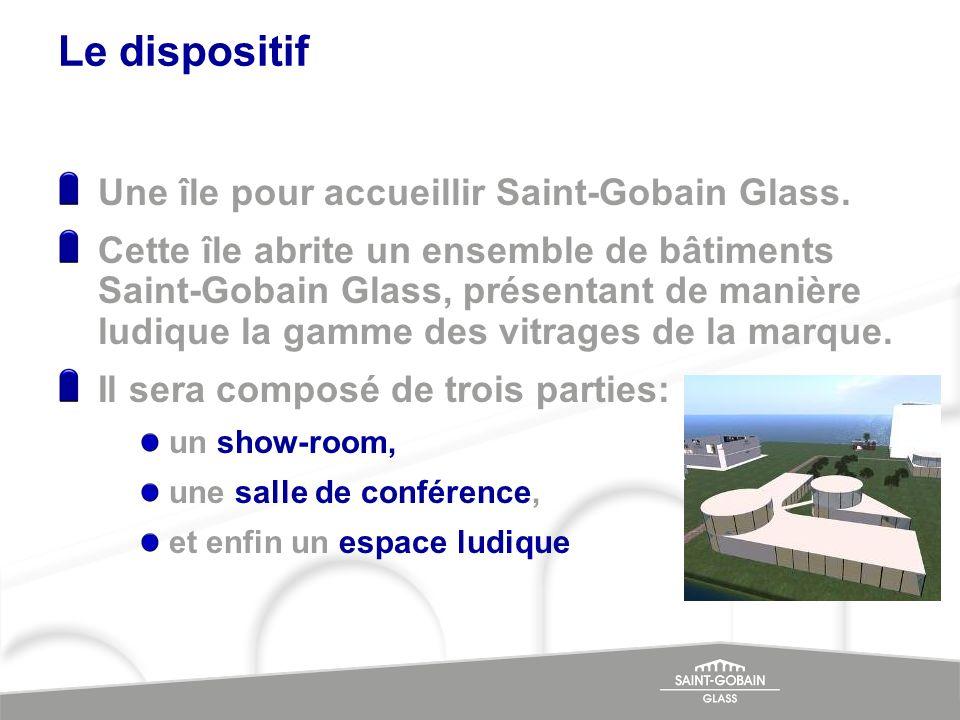 Le dispositif Une île pour accueillir Saint-Gobain Glass.