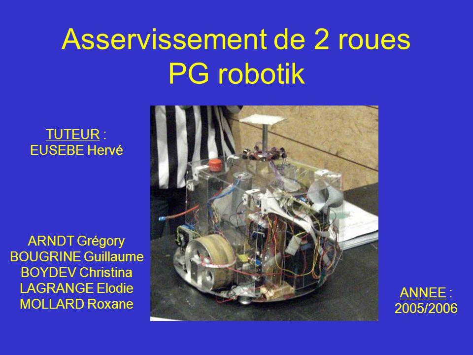 Asservissement de 2 roues PG robotik