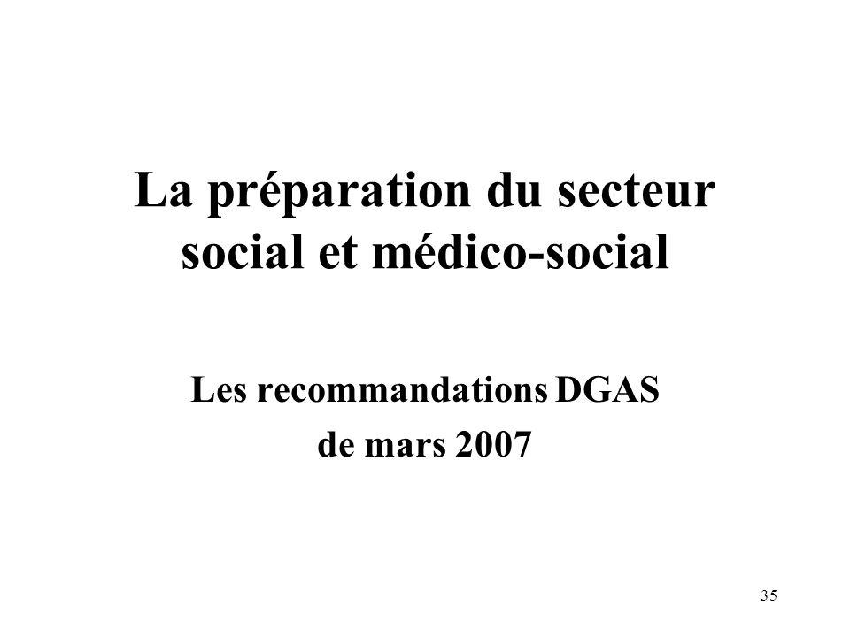 La préparation du secteur social et médico-social