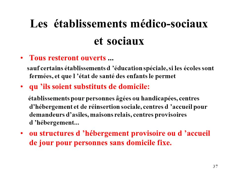 Les établissements médico-sociaux et sociaux