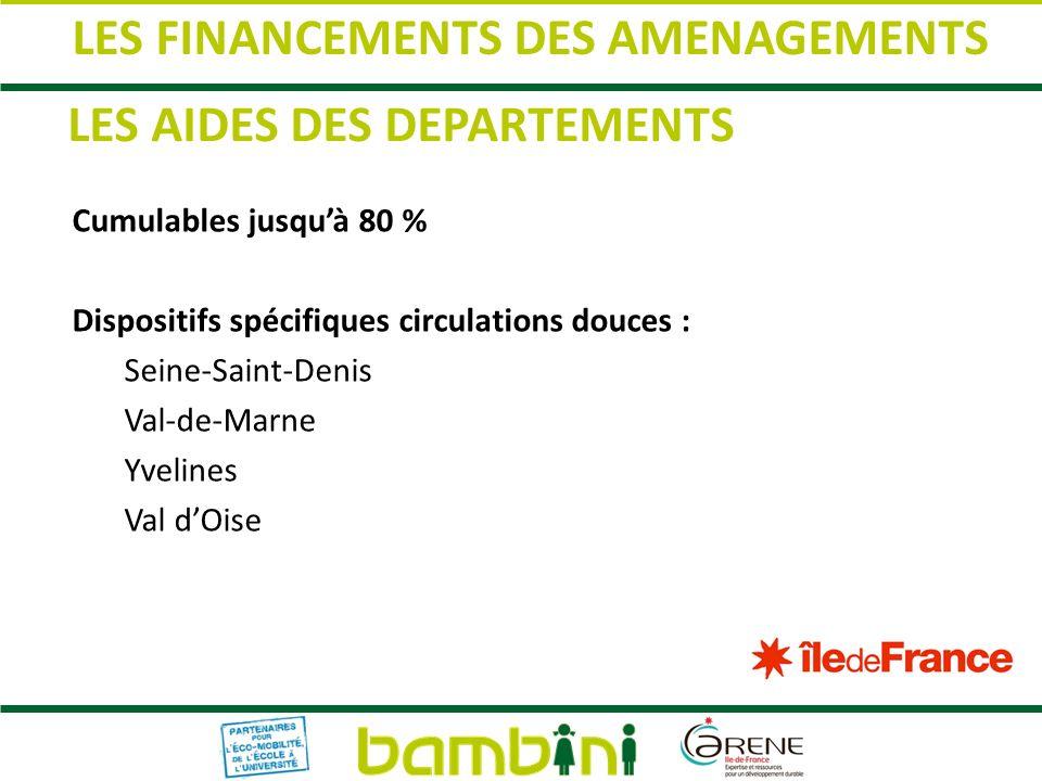 LES FINANCEMENTS DES AMENAGEMENTS