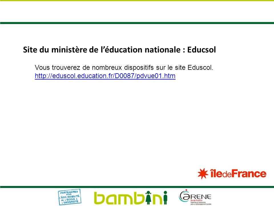 Site du ministère de l'éducation nationale : Educsol