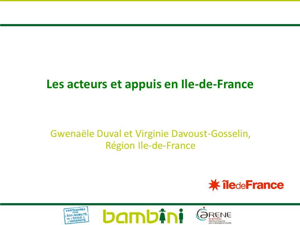 Les acteurs et appuis en Ile-de-France
