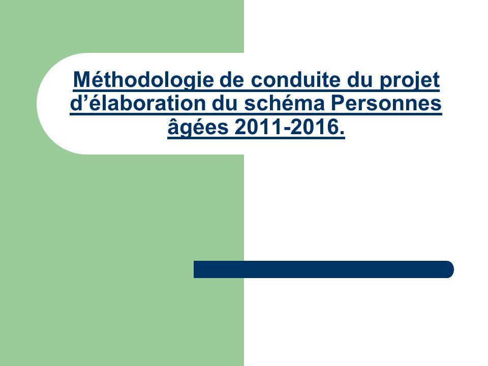 Méthodologie de conduite du projet d'élaboration du schéma Personnes âgées 2011-2016.