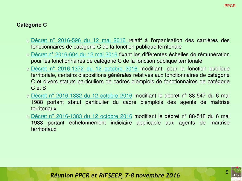 Ppcr et rifseep ppcr et rifseep ppcr rifseep carriere - Grille indiciaire puericultrice fonction publique territoriale ...