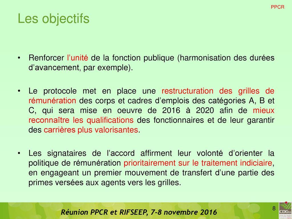 Ppcr et rifseep ppcr et rifseep ppcr rifseep carriere - Grille avancement d echelon fonction publique territoriale ...
