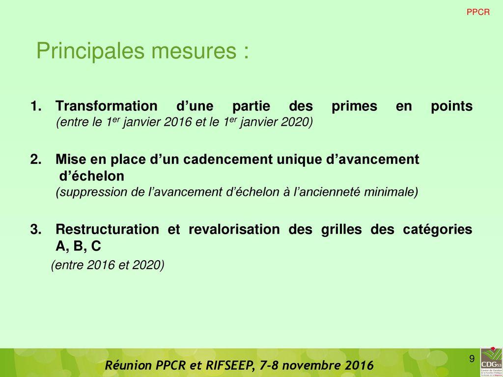 Ppcr et rifseep ppcr et rifseep ppcr rifseep carriere - Grille indiciaire agent de maitrise principal ...