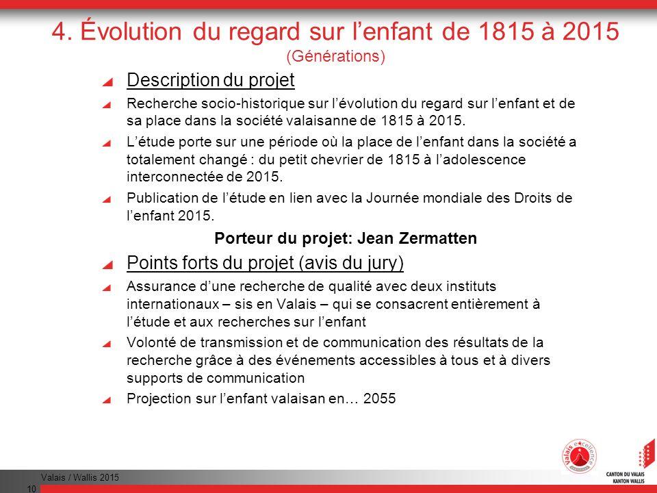 4. Évolution du regard sur l'enfant de 1815 à 2015 (Générations)