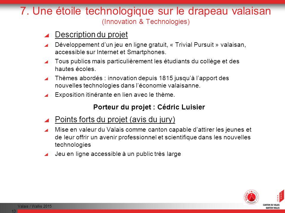 Porteur du projet : Cédric Luisier
