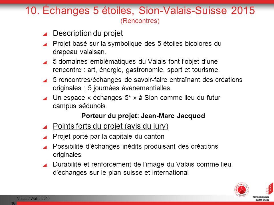 10. Échanges 5 étoiles, Sion-Valais-Suisse 2015 (Rencontres)