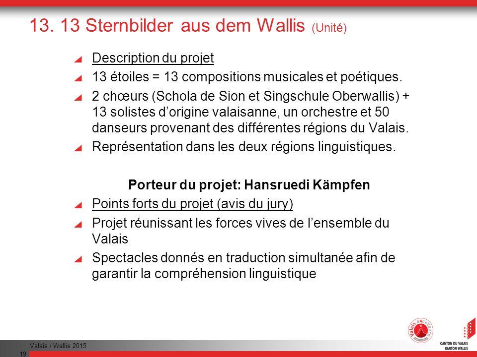 13. 13 Sternbilder aus dem Wallis (Unité)