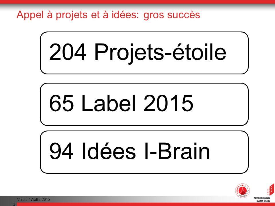 Appel à projets et à idées: gros succès