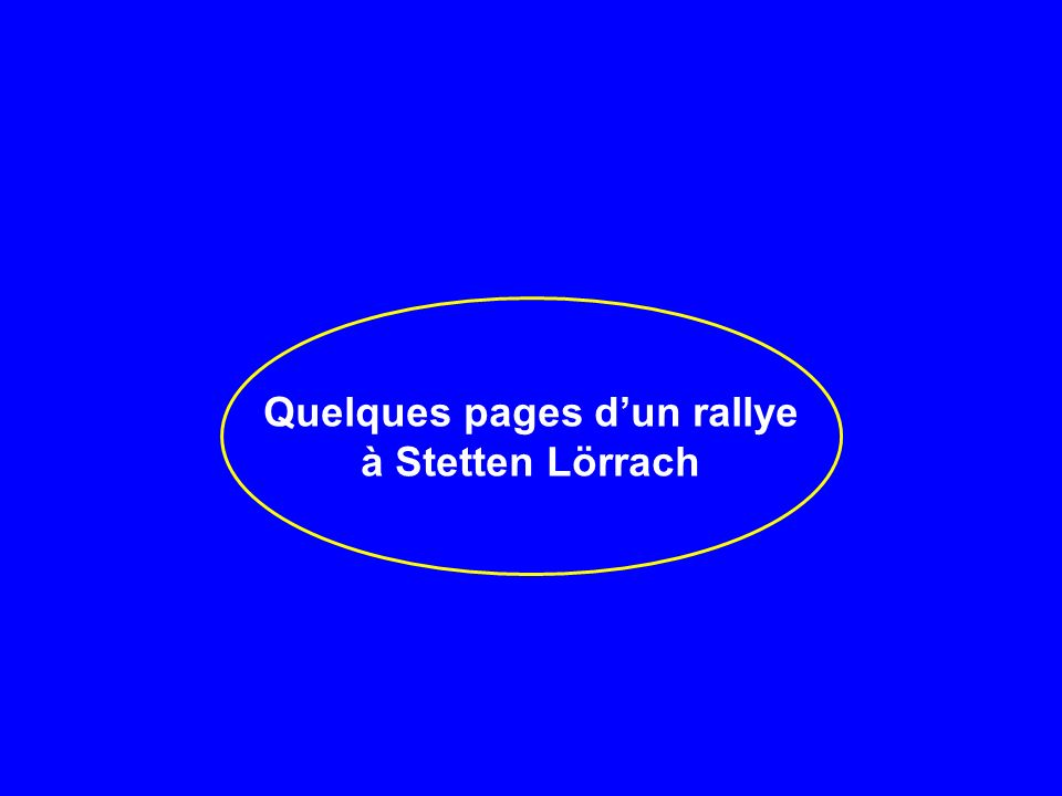 Quelques pages d'un rallye