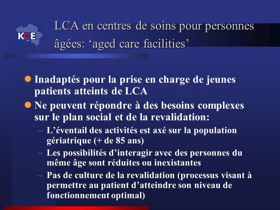 LCA en centres de soins pour personnes âgées: 'aged care facilities'