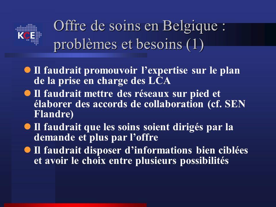 Offre de soins en Belgique : problèmes et besoins (1)