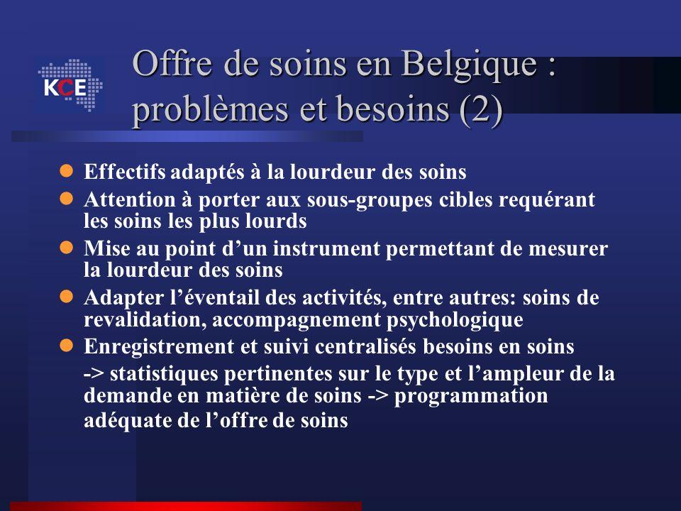 Offre de soins en Belgique : problèmes et besoins (2)