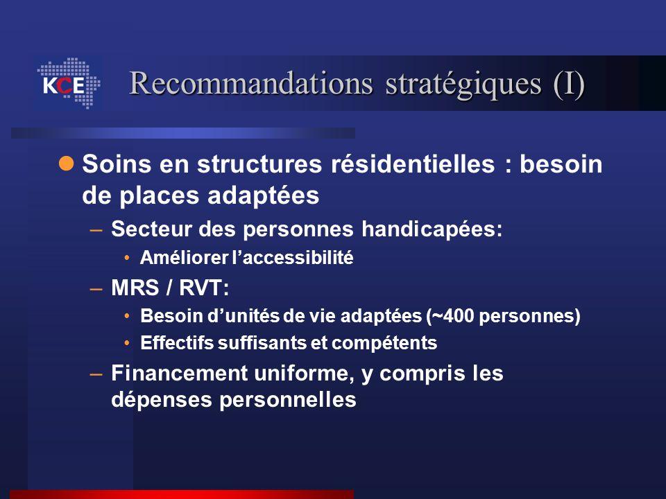 Recommandations stratégiques (I)