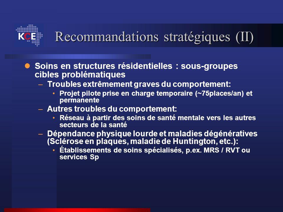 Recommandations stratégiques (II)