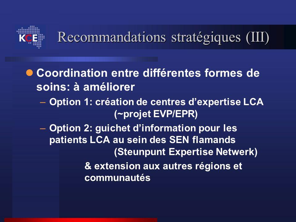 Recommandations stratégiques (III)