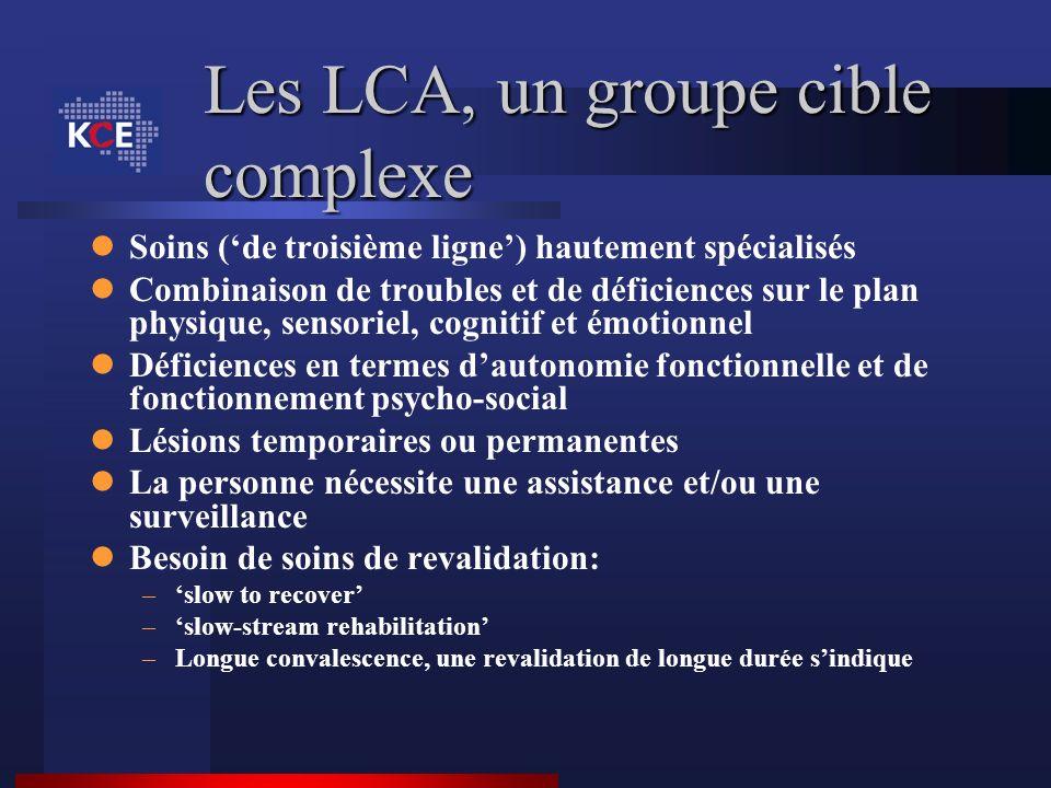 Les LCA, un groupe cible complexe