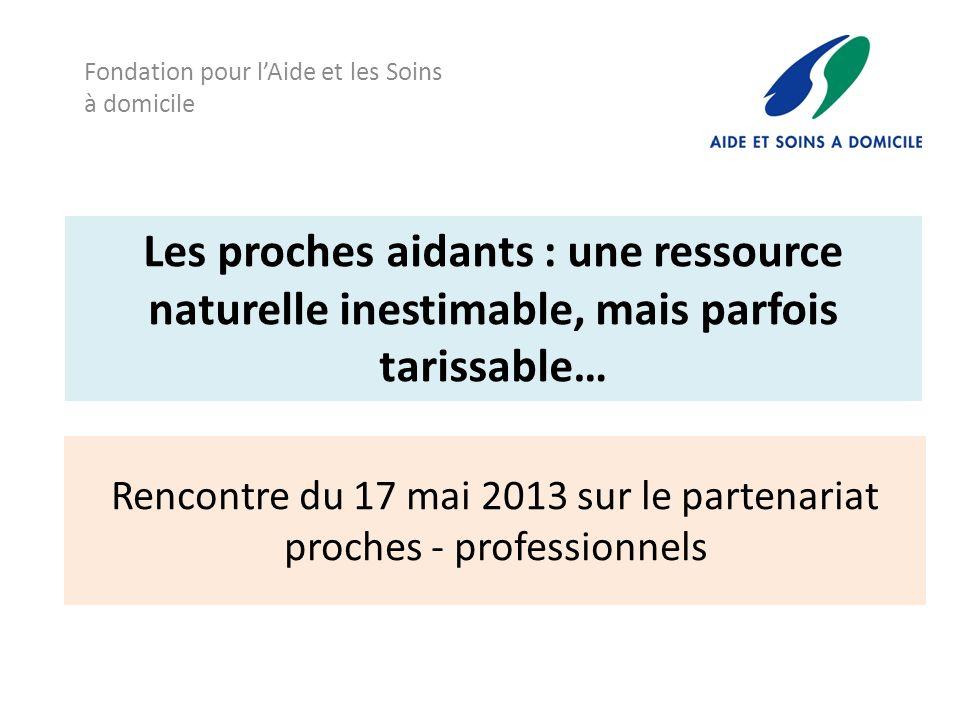 Rencontre du 17 mai 2013 sur le partenariat proches - professionnels