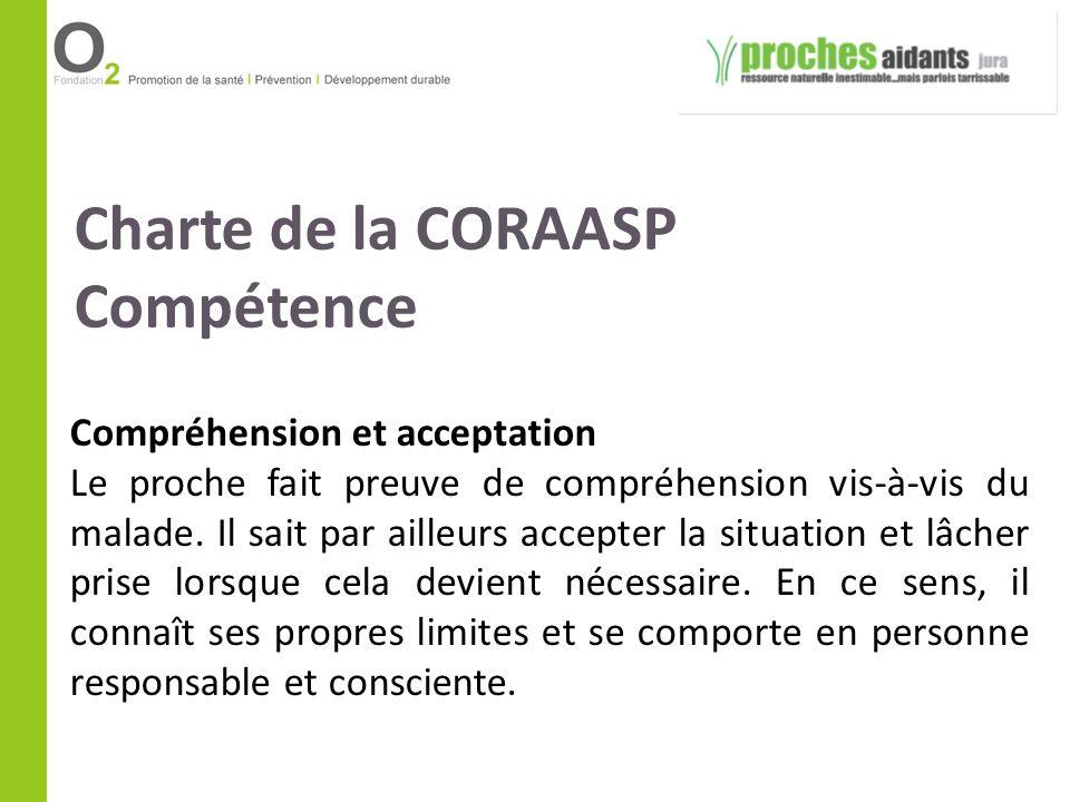 Charte de la CORAASP Compétence Compréhension et acceptation