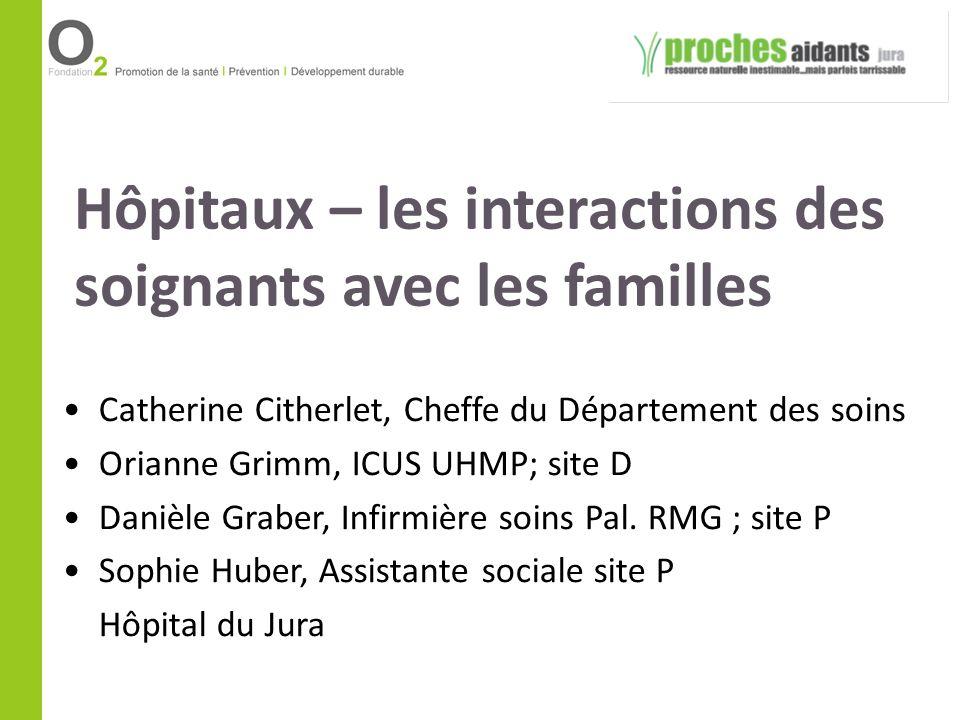 Hôpitaux – les interactions des soignants avec les familles