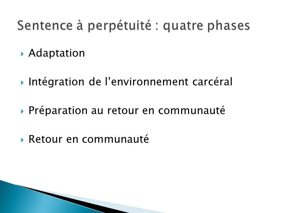 Sentence à perpétuité : quatre phases